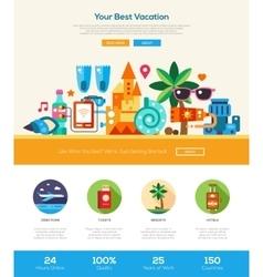 Summer vacation traveling website header banner vector