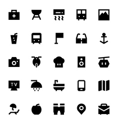 Tourism and travel icons 3 vector