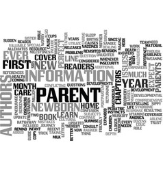 what to expect your first year as a parent text vector image vector image
