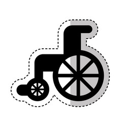 wheelchair medical isolated icon vector image vector image