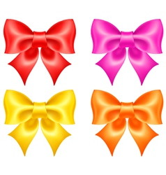 Collection of colored bows vector