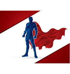 Super hero man standing vector
