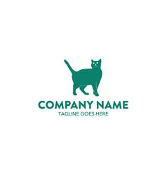 cat logo-15 vector image