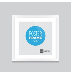 Poster frame white square vector