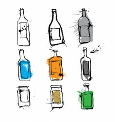 ink bottles and jars vector image