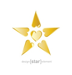 Valentines Day Star vector image