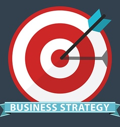 Business strategy concept flat design stylish vector