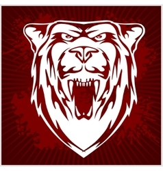 White bear head - emblem vector