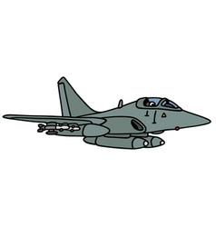 Gray jet fighter vector