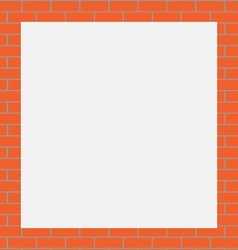 Frame orange bricks vector image