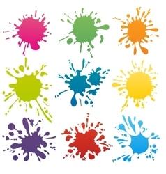 Colorful ink spots set vector image
