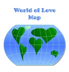 World of love map vector