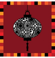 lantern greeting card vector image