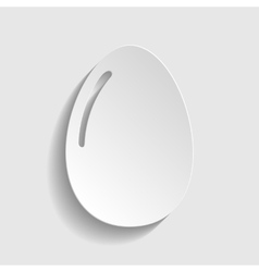 Chiken egg icon vector