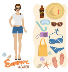 beach holiday summer vacation vector image vector image