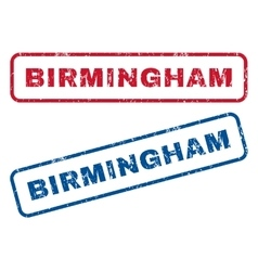Birmingham rubber stamps vector