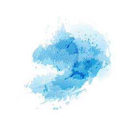 Blue abstract splatter watercolor background vector