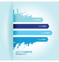 blue strip background vector image vector image