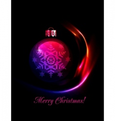 Christmas decoration stylized ball vector image
