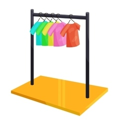 Clothes hanging on the rack icon cartoon style vector image vector image