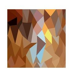 Dark tangerine abstract low polygon background vector