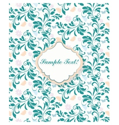 Delicate lace pattern background vector