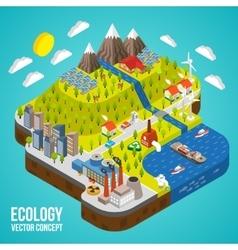 Eco City Concept vector image vector image