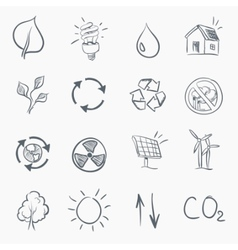 eco sketch icon set vector image vector image