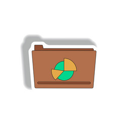 Folder with statistical report vector