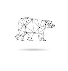 Geometric bear design silhouette vector image vector image
