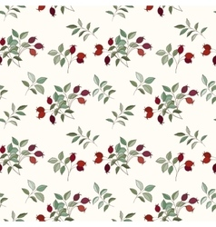 Hawthorn seamless pattern vector image