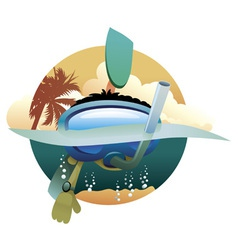 kid diver vector image vector image