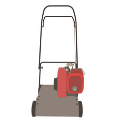 lawn mower icon grass gardening mowing garden vector image