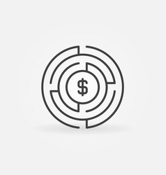 money labyrinth concept icon vector image vector image