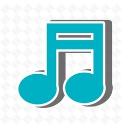 music note icon design vector image