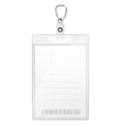 Plastic Badge For Person Identification vector image vector image