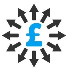 Pound Money Distribution Flat Icon Symbol vector image vector image