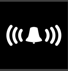 Ringing bell it is the white color icon vector