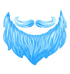 santa beard and mustache vector image vector image