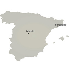spain gray map vector image vector image