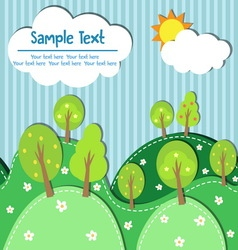 spring forest seamless vector image vector image