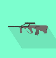 steyr riffle gun with flat long shadow style vector image