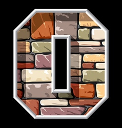 Stone letter o vector