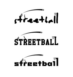 Streetball logo for the team and the cup vector