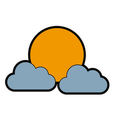sun clouds weather forecast climate sky vector image vector image