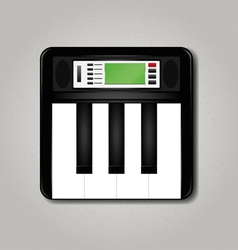 Synthesizer square vector image vector image