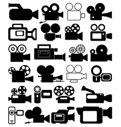 Video camera icons vector image