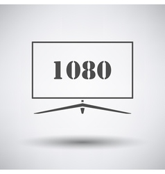 Wide tv icon vector image vector image