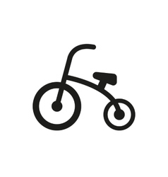Tricycle icon design bike bicycle symbol web vector