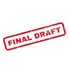 Final draft text rubber stamp vector